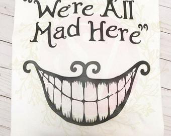 Alice In Wonderland Mad Hatter shirt