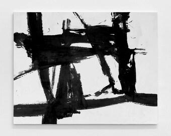 Extra Large Original Abstract oil  Painting, Canvas Art, Handmade Black White MinimaIlst Painting, home decor- MODERNISMARTSTUDIO