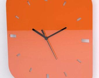 Contemporary / Modern / Stylish / Stunning Square Wall Clock with High Gloss Acrylic Reflective Finnish