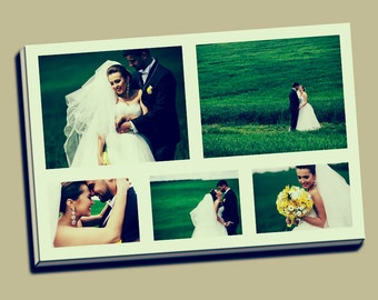 Collage Instagram Canvas Print Wedding Canvas Collage Anniversary Collage Your Image Print Christmas Canvas Gift