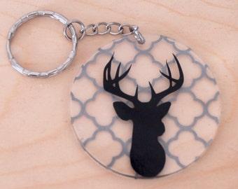 Buck Head Keychain