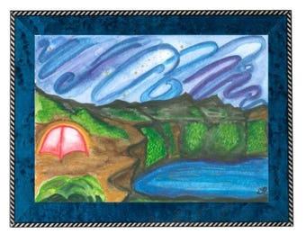 Tent Aglow 1 (Print)
