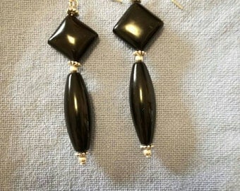 JUST Onyx earrings