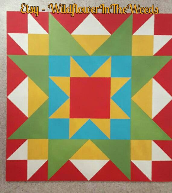 Mini Barn Quilt Rising Star