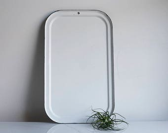 Enamelware Baking Sheet -- White Enamel Tray -- Vintage Enamel Tray -- Vintage -- Farmhouse Decor