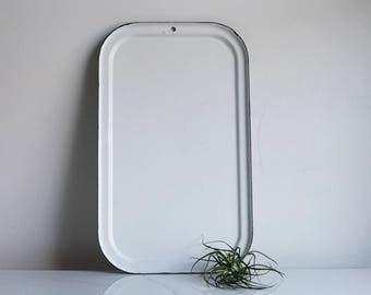Enamelware Baking Sheet -- White Enamel Tray -- Vintage Enamel Tray -- Vintage -- Farmhouse Decor