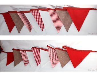 Red bunting for decoration