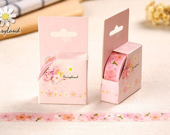 Sakura Japanese Washi Tape,Masking Tape, Cherry Blossom,Decorative Sticker,Planner Sticker,Diary,Stationery,Pink