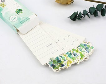 30pcs Succulent Bookmark,Japanese Bookmarks,Cut out Bookmark,Scrapbooking Supplies,Kawaii,Stationery