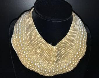 Vintage Pearl Bib Collar
