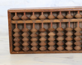 Antique soroban, solid wood abacus, counting frame, vintage Japanese, Antique home living decor, Japanese abacus, Japanese soroban,