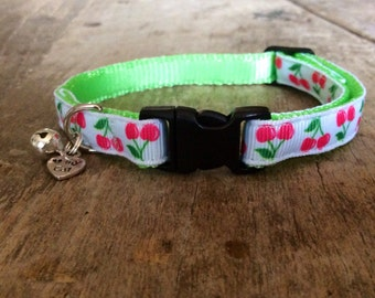 Cherry cat collar