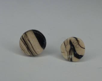 Marble Clay Stainless Steel Studs