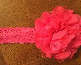 4 inch lace flower headband