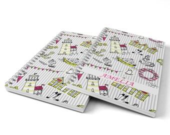 Sea Notebook.  Hard Cover Spiral Notebook. Notepad. Journal.