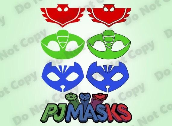 pj masks svg bundle logo svg colorlayered design cut files