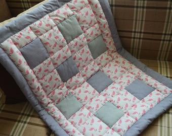 SALE USD 15 OFF Patchwork flamingo blanket for a newborn 90*65 cm