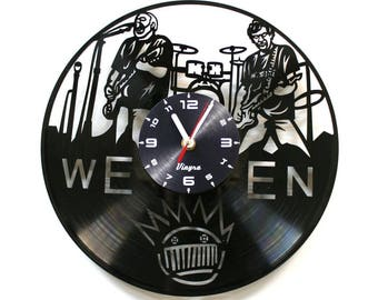 WEEN Vinyl Clock Ween Band Wall Decor Rock Band Art Music Lover Gift for Him Ween Poster for Living Room Wall Art Record Clock