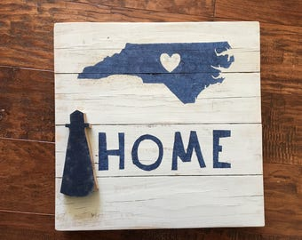 NC Home Lighthouse - Reclaimed Pallet Wood Wall Sign
