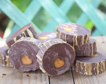Exfoliating Coffee Tree Heart Soap - cold process soap
