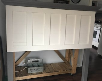 Five panel headboard with Mantle