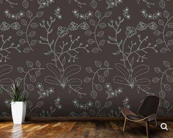branch wallpaper, flower wall mural, big branch wall decal, big flower wall mural, texture wallpaper, pattern wallpaper, branch wall decal