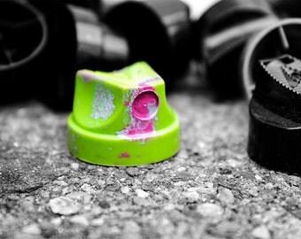 Photography graffiti - Caps of aerosol