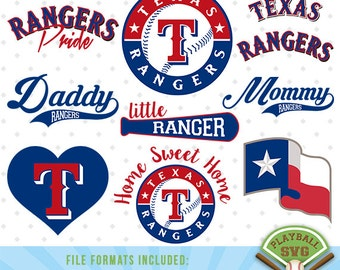 Texas Rangers SVG files, baseball designs contains dxf, eps, svg, jpg, png and pdf files. PB-025
