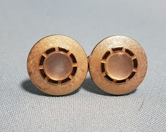 Vintage SWANK Gold Tone Cuff Links