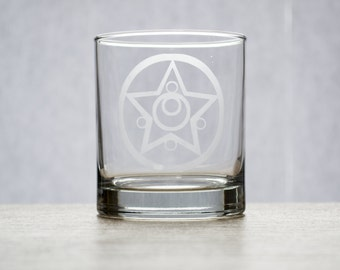Sailor Moon Etched Glass