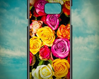 Beautiful Colorful Roses for Samsung Galaxy Note 3, Samsung Galaxy Note 4, Samsung Galaxy Note 5, Electronic Phone Case