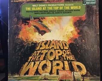 ON SALE Vintage 1974 The Story Of The Island At The Top Of The World [Vinyl] Walt Disney