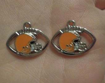 Set of 2 Cleveland Browns charms.