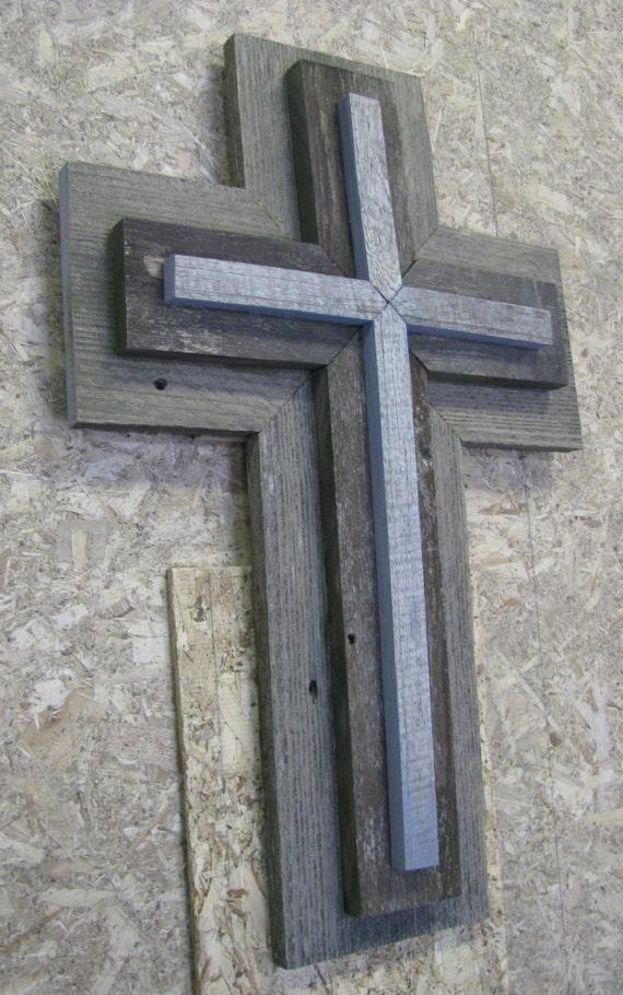 wooden cross wall plague