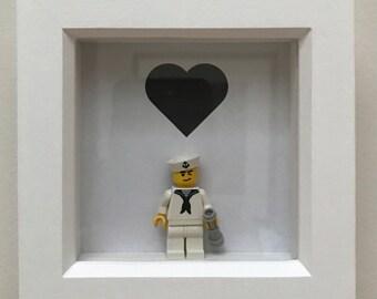 Lego Valentine Frame gift 'Hello Sailor'