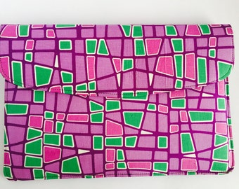 "15"" Ankara Grid Laptop Sleeve // African Print"