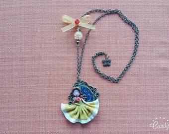 """Cameo necklace Belle """"beauty and the beast"""""""