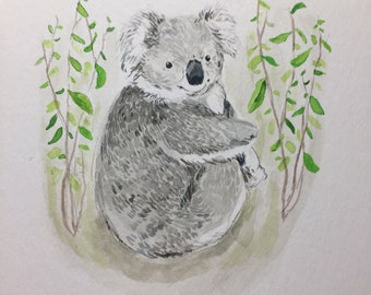 Koala Watercolor Print