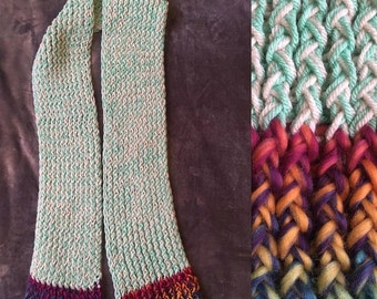 Trendy turquoise fall & winter scarf