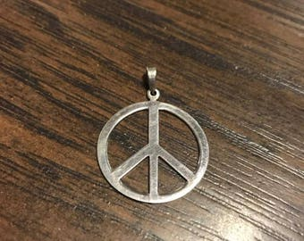 Medium Sterling Silver Peace Pendant