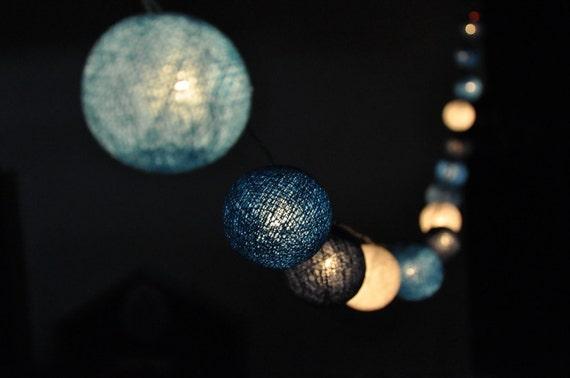 Led String Lights For Bedroom : Cotton Ball String Lights Fairy Lights LED Lights Fairy