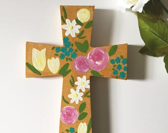 Decorated Floral Cross