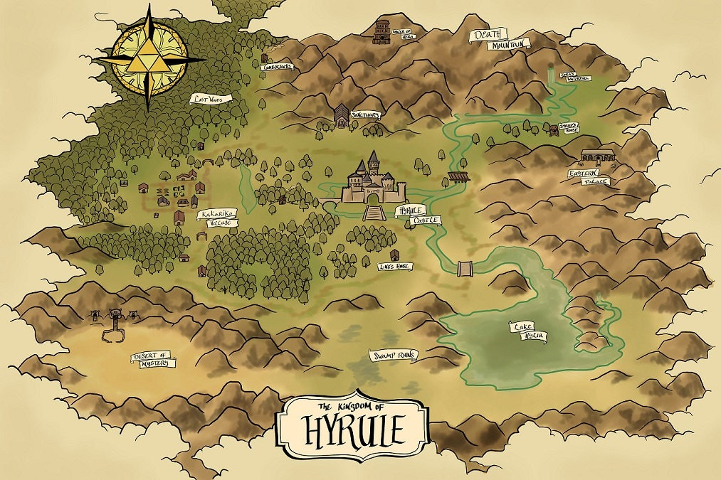 Map of Hyrule The Era of Light and Dark