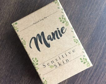 Manie, Natural, Soap Bar, unscented, so it well suits for sensitive skin.
