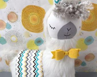 White Llama Stuffed Softie