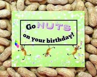NUTS on your Birthday! Gag Gift / Gift for Her / Gift for Him / Funny Greeting Card / Prank Gift / Birthday Card / Funny Card / Novelty gift