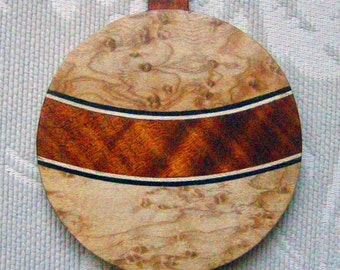 Ornament Christmas of marquetry
