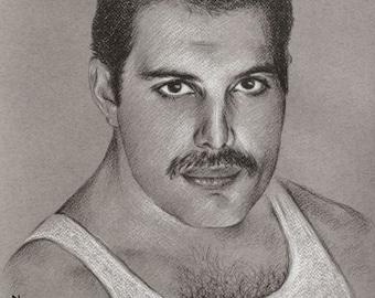 Original portrait of Freddie Mercury