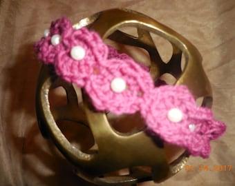 Halo baby headband, Crochet baby headband, Photo Prop, Baby girl halo headband, Baby girl headband