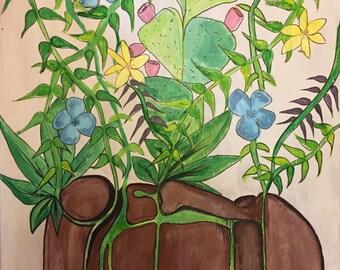 Garden face original painting
